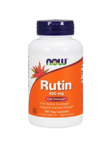 NOW Rutin, Рутин (Софора Японская) 450 мг - (100 капсул)