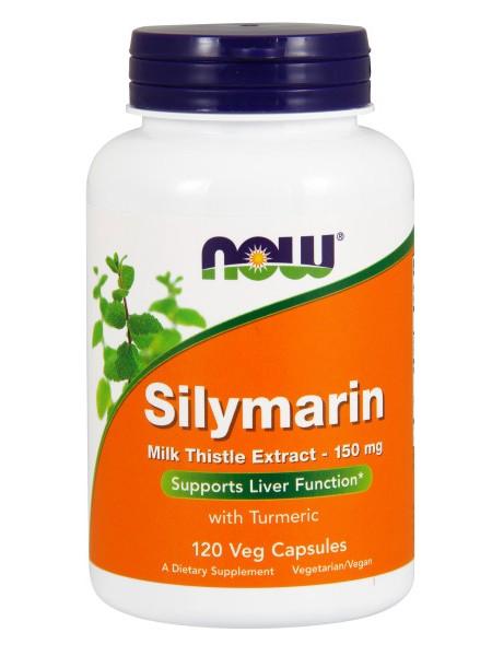 NOW Silymarin, Силимарин Экстракт Расторопши 150 мг + Куркума  (120 капс)