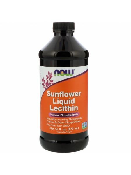 NOW Lecithin Sunflower, Жидкий Лецитин Подсолнечника - (473 мл)