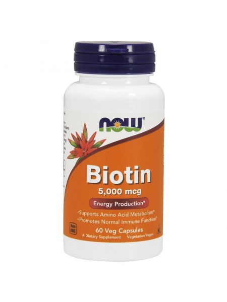 NOW Biotin 5000 (60 caps)