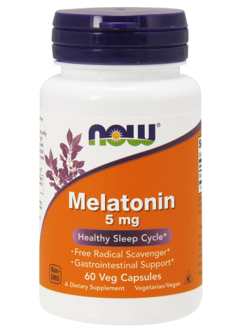 1321, NOW Foods Melatonin 5 mg (60 caps), , 650 RUB, Melatonin 5 mg, NOW Foods, Улучшение сна