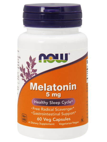 NOW Foods Melatonin 5 mg (60 caps)