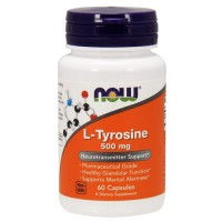NOW L-Tyrosine 500 мг, L-Тирозин (120 caps)