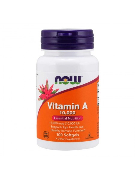 NOW Vitamin A 10 000 IU (100 капс)