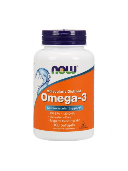 NOW Omega-3 180 EPA/120 DHA (100 caps)