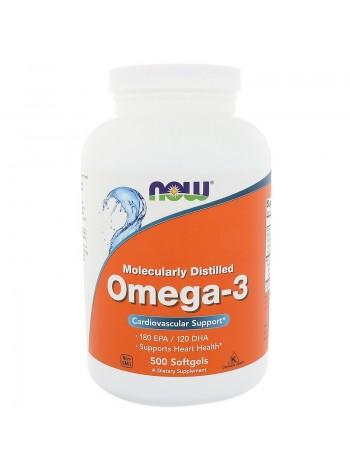 1324, NOW Foods Omega-3 180 EPA/120 DHA (500 caps) , , 1 900 RUB, Omega-3 500, NOW Foods, Полиненасыщенные жирные кислоты