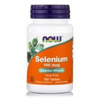NOW Selenium, Селен 100 мкг (100 tabs)