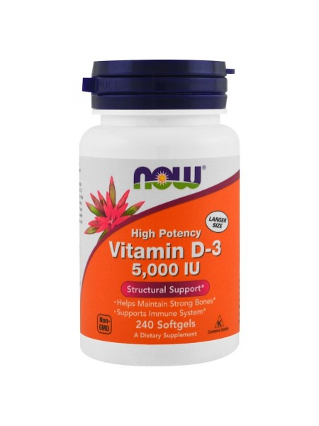 NOW Vitamin D-3 5,000 IU (240 caps)