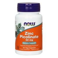 NOW Zinc Picolinate,  Пиколинат Цинка 50 mg (60 капс)