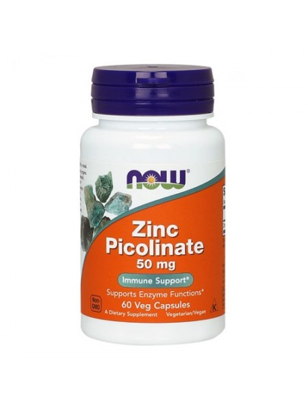 NOW Zinc Picolinate 50 mg (60 капс)