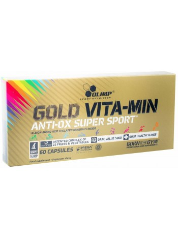 OLIMP Gold VITA-MIN anti-OX super sport (60 caps) , , 1 600 RUB, Gold VITA-MIN, OLIMP Sport Nutrition, Витамины и минералы