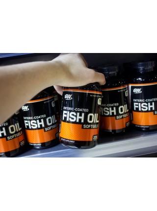 Optimum Nutrition Enteric Coated Fish Oil Softgels ( 200 caps)