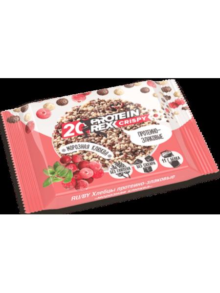 """ProteinRex Хлебцы протеино-злаковые Crispy 20% """"Морозная клюква"""" 20%  (55 грамм)"""