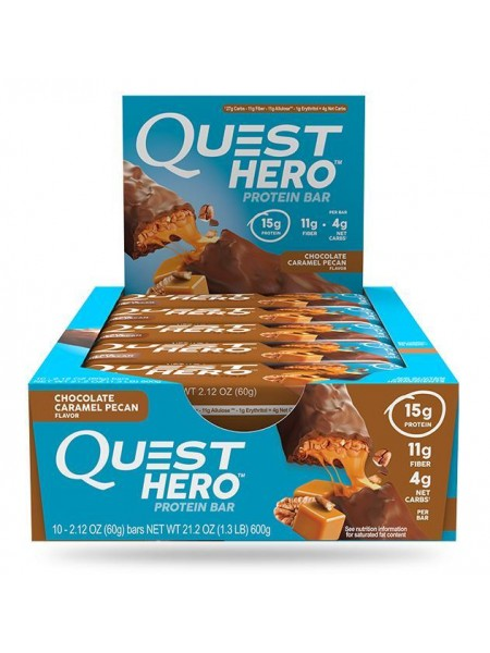 Quest Nutrition Hero Bar Chocolate Caramel Pecan  (10шт)