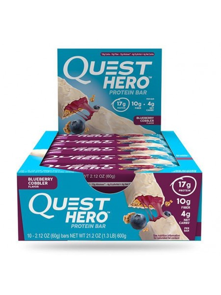 Quest Nutrition Quest Hero Bar Blueberry Cobbler (10шт)