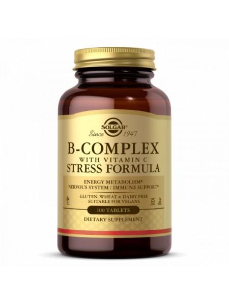 Solgar B-Complex with Vitamin C Stress Formula (100 Tablets)