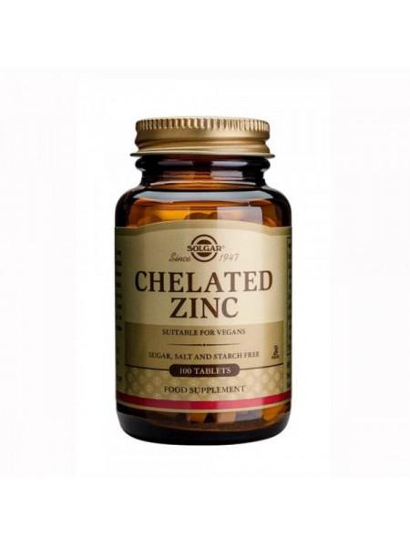 Solgar Chelated Zinc Tablets (100 Tablets)