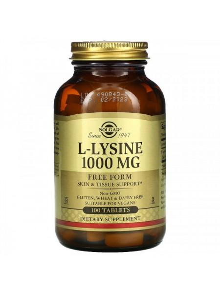 Solgar L-Lysine 1000 mg  (50 Tablets)