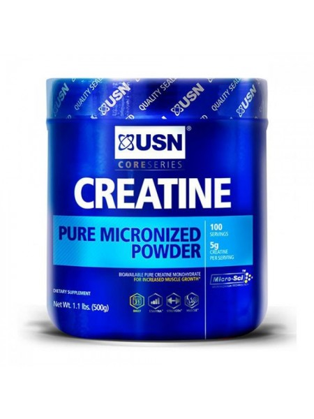 USN Creatine Pure Micronized Monohydrate Powder (500g)
