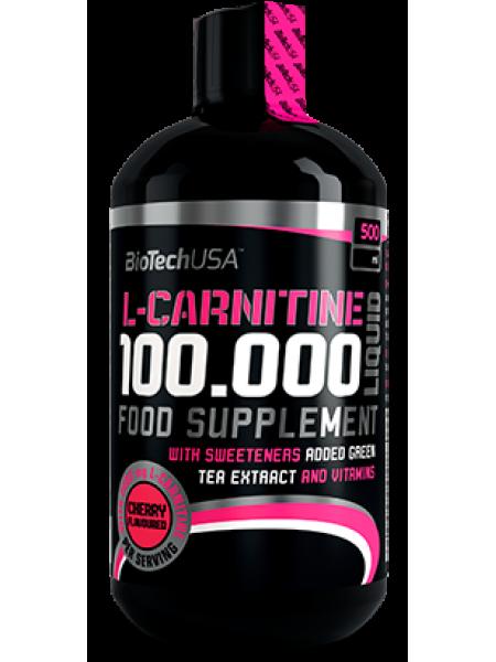 Biotech USA L-Carnitine Liquid 100.000mg (500ml) - деформирована форма бутылки , скидка !