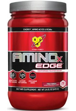 BSN BCAA Amino X Edge +  125 мг кофеина +ноль сахара  (420 g)