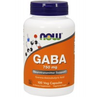 NOW Foods  GABA 750 mg (100 caps)