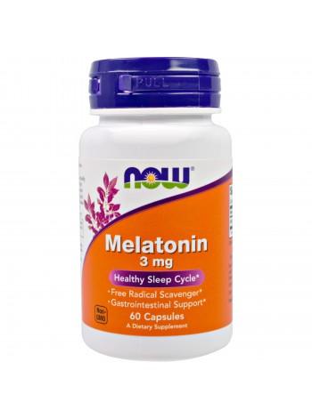 1172, NOW Foods Melatonin 3mg (60 caps), , 400 RUB, Melatonin 3mg, NOW Foods, Улучшение сна