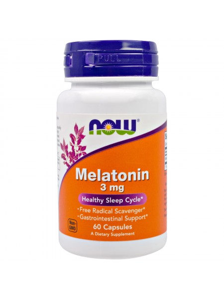 NOW Foods Melatonin 3mg (60 caps)