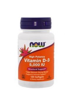NOW Foods  Vitamin D-3 5,000 (120 caps)