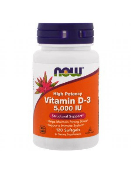 NOW Vitamin D-3 5,000 (120 caps)