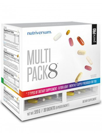 1106, Nutriversum Multi Pack 8 + Q10 (30 packs) , , 1 700 RUB, Multi Pack 8, Nutriversum , Витамины и минералы