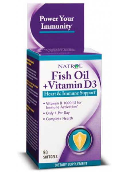 Natrol Fish Oil + Vitamin D3 (90 caps)