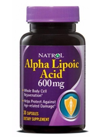 Natrol Alpha Lipoic Acid 600 mg (30 caps)