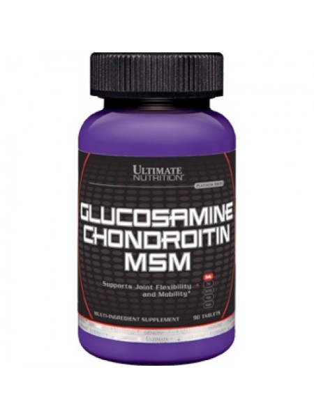 Ultimate Nutrition Glucosamine & Chondroitin + MSM (90 таб)