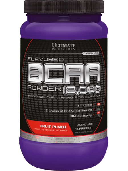 Ultimate Nutrition BCAA Powder 12000 (457g) + фирменный шейкер Fitness Formula 700 ml в подарок !